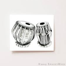 Musical Home Decor by Wall Art Print Tabla Musical Instrument Fine Art Giclee
