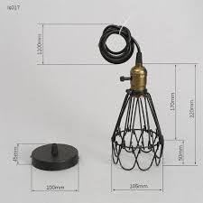 wire cage l shade frled fashion vintage wire l cage diy lshade industrial l