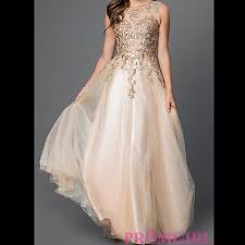champagne prom dress open back illusion champagne color prom