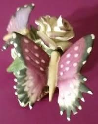 capodimonte butterfly figurine with roses ceramic porcelain ebay