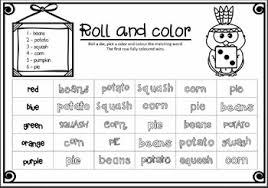 thanksgiving words spelling activities and on by