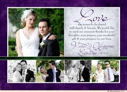 purple wedding photo thank you card collage lovely