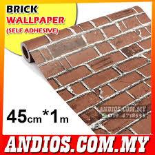 wallpaper design batu bata 45cm 1m wallpaper brick pattern sel end 7 15 2018 11 15 am