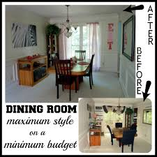 before after budget dining room makeover
