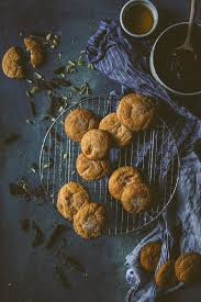 cardamom persimmon cookies with olive oil dark chocolate ganache