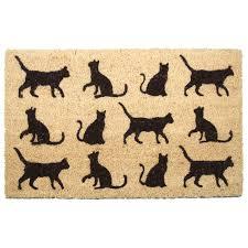 zerbino di cocco zerbino in fibra di cocco con gatti