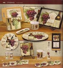 Tuscan Style Kitchen Canisters Tuscan Dishes With Grapes Wine Cellar Grape Dinnerware Set