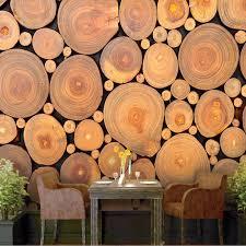custom mural wallpaper 3d non woven wood grain growth rings