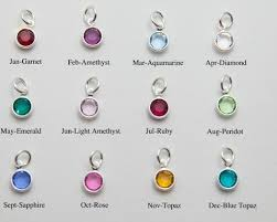 birthstone pendants for christmas 12 colors assorted birthstone charm pendant for glass