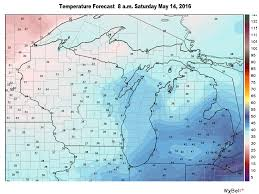 Map Of The Upper Peninsula Of Michigan Yes Snow Is Back In The Michigan Forecast In May Mlive Com