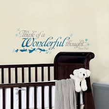 disney wall decal etsy disney wall stickers disney vinyl disney new peter pan quote think a wonderful thought wall decals disney wall decals disney