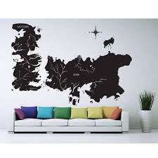 amazon com game of thrones world map art wall sticker vinyl amazon com game of thrones world map art wall sticker vinyl decal wd 0708 everything else