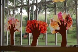 Fall Tree Decorations Fall Tree Crayon Melt Handprint Art Spanglish Schoolhouse