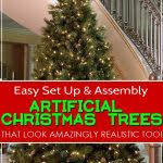 easy to set up and assemble artificial trees that look