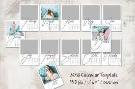 2018 calendar template 5x7 personal templates creative market