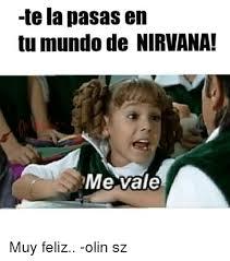 Memes De Me Vale - tela pasas en tu mundo de nirvana me vale muy feliz olin sz