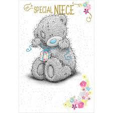 special niece birthday me to you bear card a01ms321 me to you
