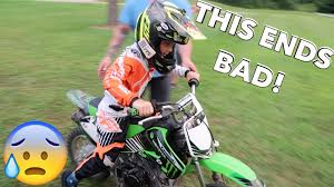 motocross gear for kids 7 year old dirtbike crash youtube