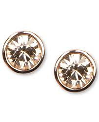 gold earring studs givenchy earrings gold tone swarovski element stud earrings