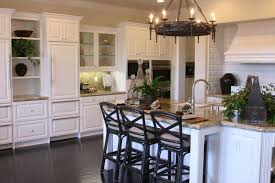 Low Cost Kitchen Design by Glass Countertops Kitchens With White Cabinets And Dark Floors