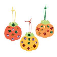jeweled pumpkin ornament craft kit orientaltrading com now 4 98