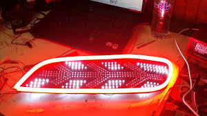 custom car tail lights honda s2000 custom tail lights leds stripe youtube