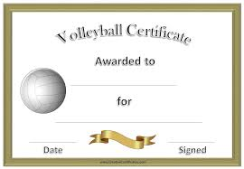 volleyball certificate template expin franklinfire co