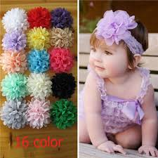 headbands for baby 10pcs set chiffon flower hair band headband elastic for baby girl