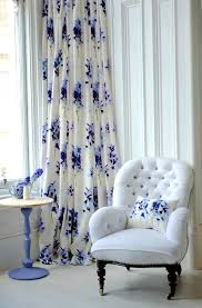 Blue Floral Curtains White And Blue Floral Curtains Home Design Ideas