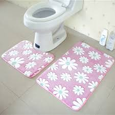 Memory Foam Rugs For Bathroom 2pcs Bathroom Mats Set Coral Fleece Memory Foam Rug Kit Toilet