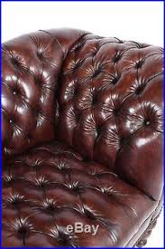 Chesterfield Tufted Leather Sofa 1970s Vintage Henredon Chesterfield Tufted Leather Sofa Distressed