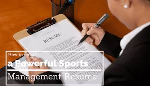 Sport Management Resume How To Create A Powerful Sports Management Resume