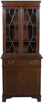 Mahogany Bookcase With Glass Doors Yew Wood Two Glass Door Bookcase Glass Door Bookcase Antique