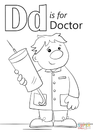 letter d is for doctor coloring page at coloring page omeletta me