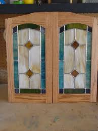 Glass Panel Kitchen Cabinet Doors Kitchen Cabinet Stained Glass Panel Insert