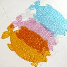 Fish Bath Rug Non Slip Bath Mats Pvc Shower Fish Shape Floor Mats Anti Slip Cute
