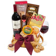 wine and chocolate gift basket classic wine gift basket by gourmetgiftbaskets