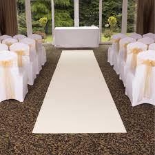 Wedding Aisle Runners Plain Cream Wedding Aisle Vip Event Carpet Runner At Carpet Runners Uk