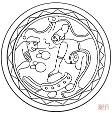 mayan face mask coloring page free printable coloring pages