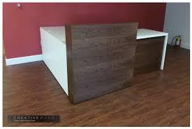 L Shaped Reception Desk Reception Creative Wood