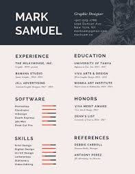 vc resume dark slate gray infographic resume templates by canva