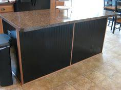 Kitchen Island Makeover Ideas Fake It Frugal Kitchen Island Makeover Using Beadboard Wallpaper