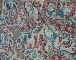 designer decor fabric paisley print chiffon dress orange fabric