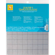 Plastic Template Sheets Amazon Com Ez Quilting 882670027 Quilter S Template Plastic