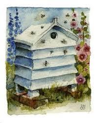 Backyard Beehive Vintage Illustration Bee Vintage Illustrations Pinterest