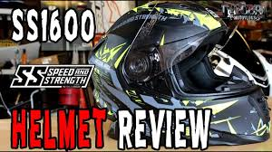 motorcycle helmets and gear gear review speed and strength ss1600 helmet review youtube