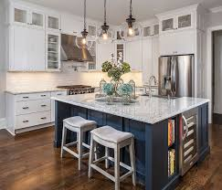 navy blue kitchen island ideas gorgeous home tour with designs best friends