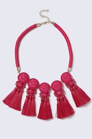 tassel necklace images Pink fabric multi tassel necklace 19 95 eur necklace gina tricot jpg