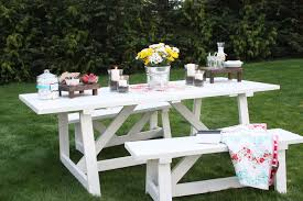 White Outdoor Wicker Furniture Sets 33 Most Superlative Outdoor Table And Bench Ana White Providence Diy