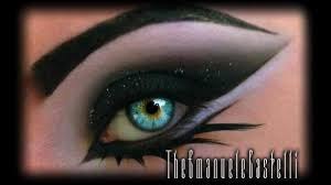 arabic black smoky eyes with glitter dramatic make up tutorial